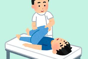 身体の左右・上下、首・体幹のネジレに対して筋肉のバランスや反射を調べます。